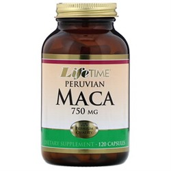 LifeTime Vitamins, Перуанская мака, 750 мг, 120 капсул