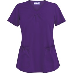 Butter-Soft Scrubs by UA™ Scallop Neck Top