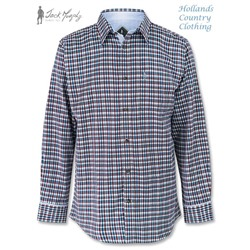 Jack Murphy Monkstown Shirt in Naples Blue Check