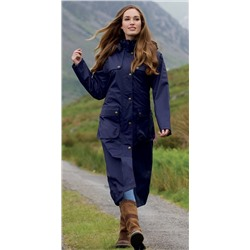 Jack Murphy Alva Ladies Long Waterproof Coat | Blackberry, Navy, and Olive