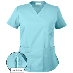 UA Butter-Soft STRETCH V-Neck Media Scrub Top