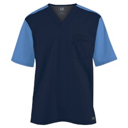 Butter-Soft Scrubs by UA Men's Color Block V-Neck Top