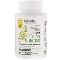Health Plus, Super Colon Cleanse, 530 mg, 120 Capsules