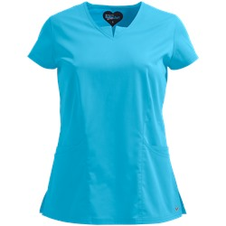 UA Butter-Soft STRETCH Scrubs Contemporary Fit V-Neck w/ Triangle Insert Top
