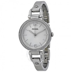 FOSSIL Georgia Glitz Silver Dial Ladies Watch