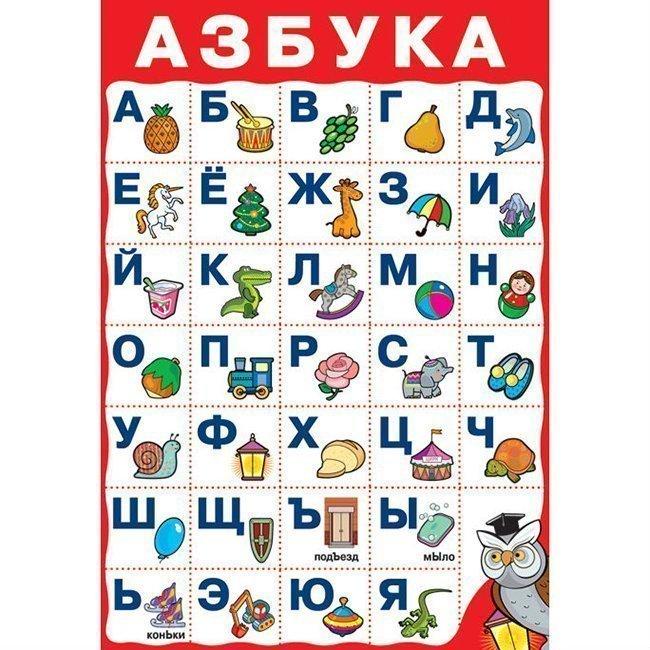 алфавит учить по картинками пилота