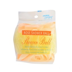 CLEAN&BEAUTY Flower ball rose shower ball Мочалка для душа