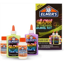 Elmer's Glow In The Dark Slime Kit | Slime Supplies Include Elmer'S Glow In The Dark Glue, Elmer'S Magical Liquid Slime Activator, 4 Piece Kit