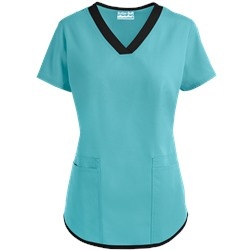 Butter-Soft Scrubs by UA™ V-Neck Top w/ Side Pocket Entry