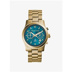 MICHAEL KORS Watch Hunger Stop Runway Gold-Tone Stainless Steel Watch