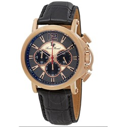 Lucien Piccard Triomf GMT Chronograph Men's Watch 40018C-RG-01