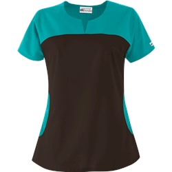 UA Best Buy Rounded Notch Neck Scrub Top