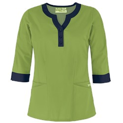 UA Butter-Soft STRETCH Scrubs Contrast 3/4 Sleeve Top
