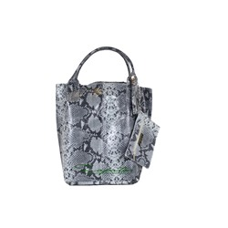 PELLE SHOPPER SERPIENTE/2 GRIS