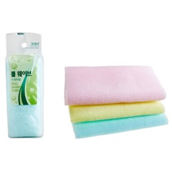 CLEAN&BEAUTY ROLL WAVE SHOWER TOWEL  Мочалка для душа (28х95) 1шт