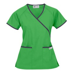 UA Best Buy Scrubs Contrast Mock Wrap Top