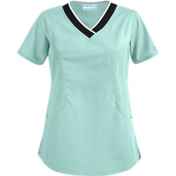 Butter-Soft Scrubs by UA™ Contrast Binding V-Neck Top