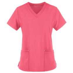 Easy STRETCH by Butter-Soft™ Lina Mitered V-Neck Scrub Top