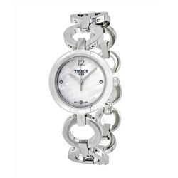 TISSOT 4.5 star rating White Mother of Pearl Diamond Dial Ladies Watch