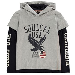 SoulCal Multi Layer Long Sleeved Hoody Junior Boys