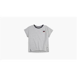 Big Girls S-XL Dolman Sleeve Striped Tee Shirt