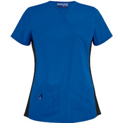 UA Butter-Soft STRETCH Scrubs V-Neck Top w/ Side Knit Panels