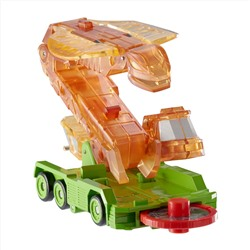 Screechers Wild US683221 Level 2 Fangster Flipping Morphing Toy Car Vehicle, 4'' x 2'', Orange