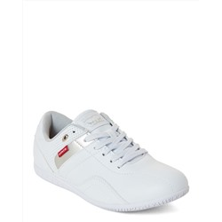 LEVI'S  White & Silver Winsome Low-Top Sneakers