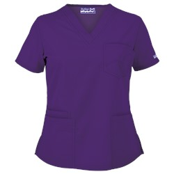 Butter-Soft Scrubs by UA™ 4-Pocket V-Neck Top