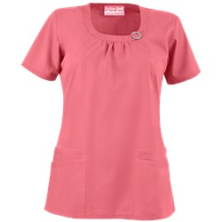 Butter-Soft Scrubs by UA™ Women's Rounded Neck 4-Pocket Top