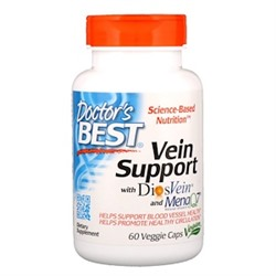 Doctor's Best, Vein Support, с DiosVein и MenaQ7, 60 вегетарианских капсул