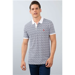 Beyaz Polo Yaka Slim T-Shirt