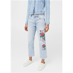 Jeans straight bordados Dalia