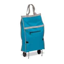 Honey Can Do Fabric Bag Rolling Cart with 2 Rollers and Handle, Multiple Colors