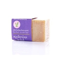 Мыло-скраб «Мангостин и витамин Е» Baivan 40 гр / Baivan herbal scrub soap mangosteen&vitamin E 40 gr