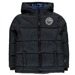 Lee Cooper 2 Zip Bubble Coat Junior Boys