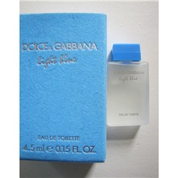 DOLCE & GABBANA LIGHT BLUE edt (w) 4.5ml mini