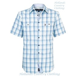 Jack Murphy Blue Gingham Short Sleeve Shirt