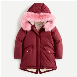 Girls' fishtail parka with eco-friendly PrimaLoft®