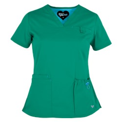 UA Butter-Soft STRETCH Scrubs Contemporary Fit V-Neck 4 Pocket Top