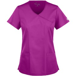 UA Butter-Soft STRETCH Scrubs V-Neck Mock Wrap Top