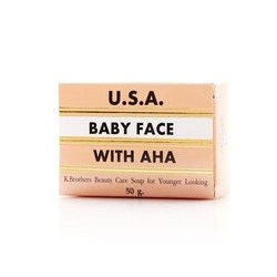 Омолаживающее мыло Baby Face от K.Brothers 50 Гр / K.Brothers Baby Face Soap with AHA 50g