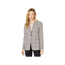Tommy Hilfiger Plaid One-Button Jacket with Flap Pockets