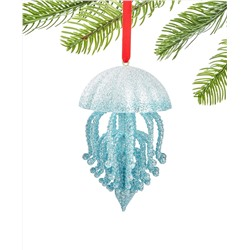 Holiday Lane Seaside Glittered Jellyfish Ornament, Created for Macy's