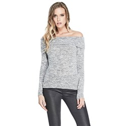 AMI OFF-THE-SHOULDER SWEATER