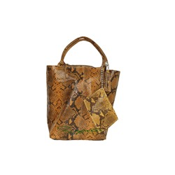 PELLE SHOPPER SERPIENTE/2 CAMELLO