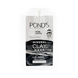 МИНЕРАЛЬНАЯ ГЛИНА МАСКА ДЛЯ ЛИЦА 8 ГР / POND'S PURE WHITE MINERAL CLAY MASK D-TOXX TREATMENT 8 G