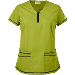 Butter-Soft Scrubs by UA™ Short Sleeve 4-Pocket Top w/ Zipper Trim