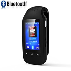 HONGYU Portable Bluetooth MP3 player 8GB Clip Sport music player with FM Radio Voice recording Pedometer Independent Volume Control and Support Micro SD Card (black)