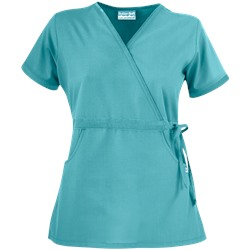Butter-Soft Scrubs by UA™ Women's Solid Mock Wrap Top with Side Tie
